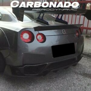 2008 2016 Gtr R35 Dp Style Carbon Fiber Rear Diffuser Undertray Side Caps
