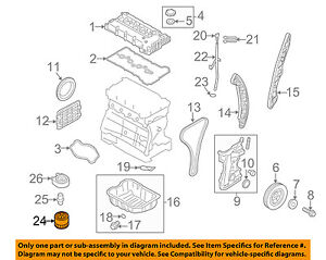 Kia Oem 01 18 Optima Engine Oil Filter 2630035504