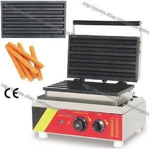 Commercial Nonstick Electric 5pcs Spanish Donut Baker Churros Maker Machine Iron