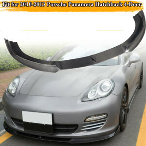 Carbon Fiber Front Bumper Lip Spoiler Chin Fit For 2010 2013 Porsche Panamera