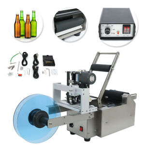 Mt 50d Automatic Round Bottle Labeling Machine With Date Code Printer Labeller