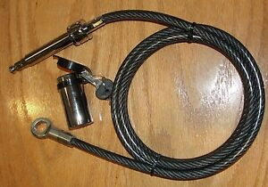 Locking Trailer Hitch Receiving Pin Lock W Keys trailer Safety Cable all In One