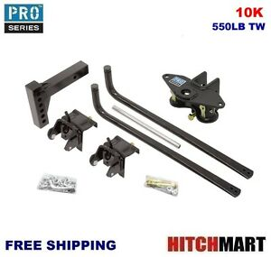 10k 550 Tw Round Bar Weight Distribution Trailer Hitch System 49581