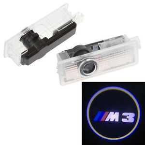 2x Led Puddle Lamp Laser Courtesy Shadow Projector Car Door Light For Bmw M3