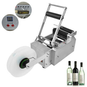 New Lt 50s Semi automatic Round Bottle Labeling Machine Labeler Machine