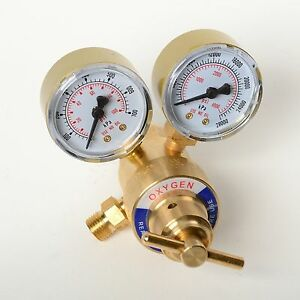 Rear Mount Oxygen Gas Welding Welder Brass Regulator Pressure Gauge Victor Type