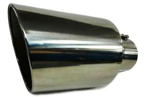 Diesel Truck Bolt On Exhaust Universal Tip 5 Inlet 8 outlet 15 Long Stainless