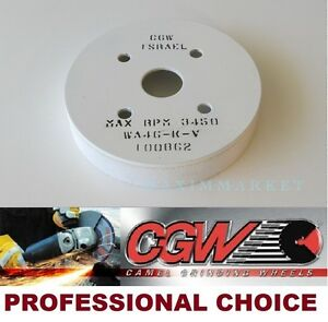 Cgw Plate Mounted Grinding Wheel Size 6 x 1 x 4 Grit 46 k White Ao