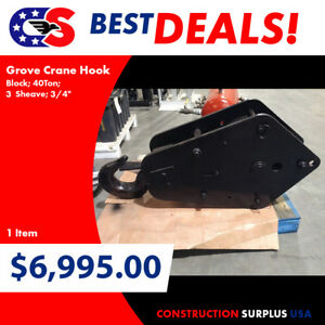1 Grove Crane Hook Block 40ton 3 Sheave 3 4 81219