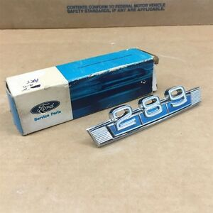 1967 1968 Nos Ford Falcon Fairlane 289 Fender Emblem Ornament C8oz 16228 c