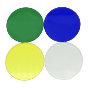 Biological Microscope Optical Color Filter 32 Mm Dia 4 Pieces Blue Green Yellow