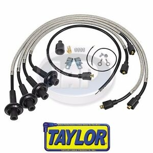 Vw Bug Bus 8mm Taylor Spiro Sst Stainless Spark Plug Wire Set Braided Shielded