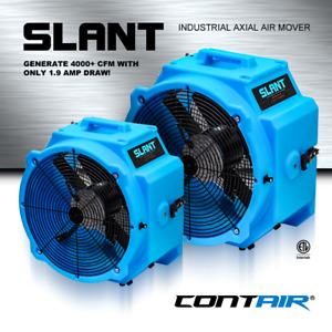 Contair Slant 4000 Cfm Commercial Axial Air Mover Fan Blower With Gfci Blue