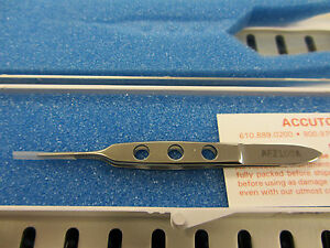 Accutome Bishop harmon Dressing Forceps Straight Serrated Tips Af2100