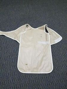 X ray Dental Apron Beige With Wrap Around Great Condition