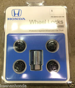 Genuine Oem Honda Acura Black Chrome Exposed Wheel Lock Set Locks