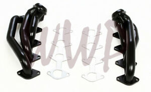 Black Coated Performance Exhaust Headers System 05 10 Ford Mustang Gt 4 6l V8