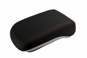 Console Armrest Leather Synthetic Cover For Mitsubishi Lancer 08 16 Red Stitich