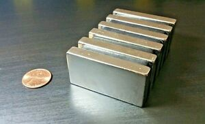 One 1 Neodymium N52 Block Magnet Super Strong Rare Earth Neo 2 X 1