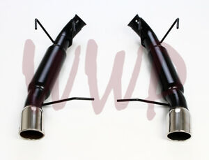 Dual Stainless Axle back Exhaust Muffler System Kit 13 14 Ford Mustang Gt 5 0l