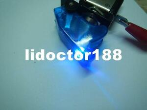 10set race Car Illuminated Toggle White Switch Transparent Blue Safety Cover