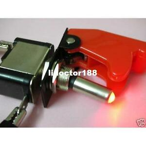 10set race Car Illuminated Toggle red Switch Red Safety Cover new