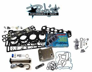6 0l Ford Solution Kit Head Studs Egr Delete Dorman Oil Cooler Gaskets 18mm 20mm