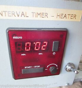 Balzers Interval Timer Heater Process Control Component