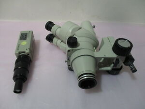 Nikon Smz 2t Microscope Head Sony Dxc 107a Color Video Camera Ccd iris 416472