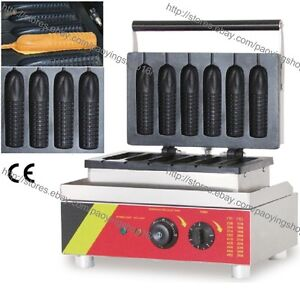 Commercial Nonstick Electric French Hot Waffle Corn Dog Maker Iron Baker Machine