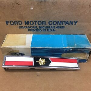 1967 Nos Mercury Meteor Center Grill Emblem Ornament C7mb 8b369 A