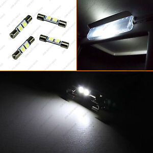 4x White Sun Visor Vanity Mirror Led Lights F30 Whp 6614f 6641 Fuse Type Bulbs