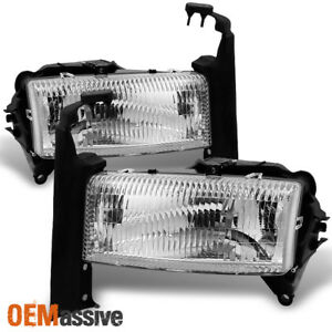 Fit 97 04 Dodge Dakota Pickup 98 03 Dodge Durango Suv Clear Lens Headlights Pair