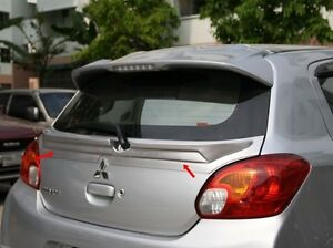 Fit For Mitsubishi Mirage 2012 2015 Spoiler Rear Trunk Center Wing Unpainted Abs