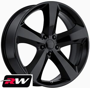 20 Rw Wheels For Dodge Charger Challenger 20x8 R t Se Style Gloss Black Rims