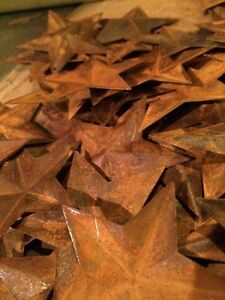 Lot 100 Rusty Barn Stars 2 25 In 2 1 4 Primitive Country Rusted Rust