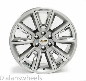 New Chevy Suburban Tahoe Gbt 22 Silver Chrome Inserts Wheels Rims Lugs 5696