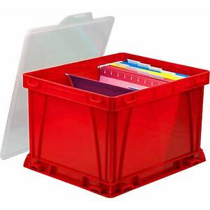 Storage And Filing Cube With Clear Cover Case Of 3