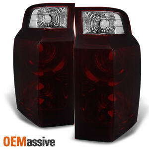Fit 06 10 Jeep Commander Dark Red Tail Lights Replacement Driver Passenger