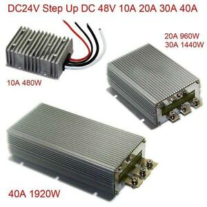 Dc24v Step Up 48v 10a 20a 30a 40a Power Supply Converter Module Waterproof New