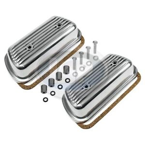 Vw Bug Bus Ghia Bolt On Engine Valve Cover Set Pair Finned Hardware