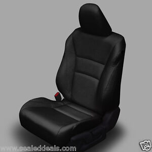 2013 2014 Honda Accord Sport Ex Black Katzkin Leather Seat Replacement Covers
