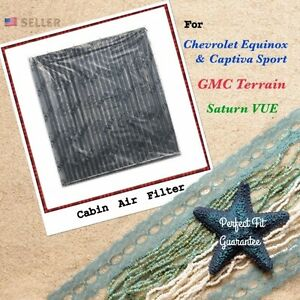 Carbonized Cabin Air Filter For Equinox Captiva Sport Terrain Vue Great Fit