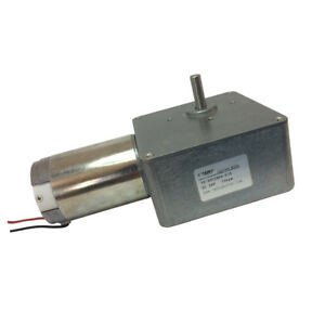 Dc Elestric Motor With Gearbox 24v 10rpm High Torque Worm Reducer Geared Motor