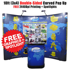 10 Double sided Trade Show Pop Up Display Banner Stand Exhibit Booth Free Print