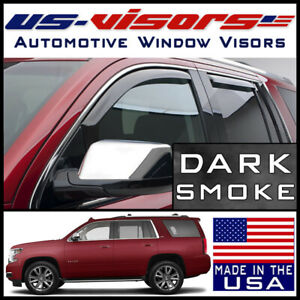 Us visors 2015 2020 Chevy Tahoe Window Vent Visors Rain Guards In channel 4 pc