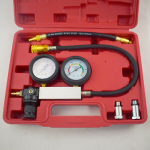 Cylinder Leak Down Tester Leak Detector Engine Compression Tester Gauges Superb