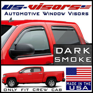 Us visors 2015 2020 Chevy Colorado Crew Cab Window Vent Visors In channel 4 pc