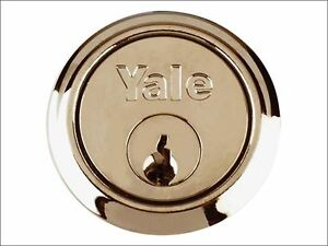Yale Locks P1109 Replacement Rim Cylinder 6 Keys Polished Brass Finish Visi