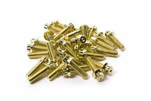 120x Gold Split Rim Assembly Bolts M7 X 24mm Bbs Rm Lm Oz Wheels Ht Screws